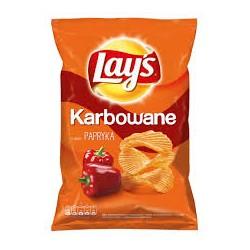 Lay's Chipsy Ziemniaczane Karbowane O Smaku Papryki 130g