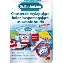 DR. BECKMANN CHUSTECZKI WYŁAPUJĄCE KOLOR I WSPOMAGAJĄCE USUWANIE BRUDU 24 SZTUKI