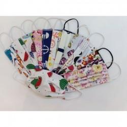 Maseczka wielorazowa- tkanina bawełniana trzywarstwowa, kolorowa